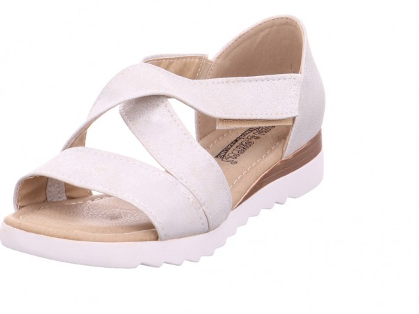 Tempora Damen Sandale Sandalette Sommerschuhe beige 282016