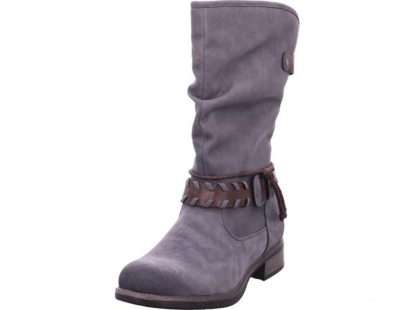 Rieker Damen Stiefel Schnürstiefel warm sportlich Boots grau 98861-42