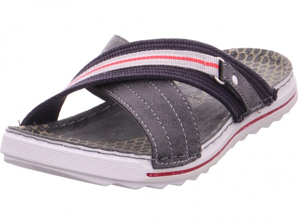 BOLD Herren Pantolette Sandalen Hausschuhe grau PT126-Q32
