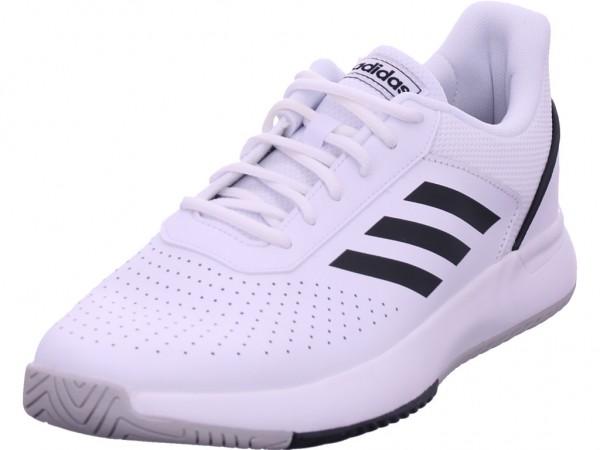 Adidas COURTSMASH,FTWWHT/CBLACK/GRETW Herren Sneaker weiß F36718