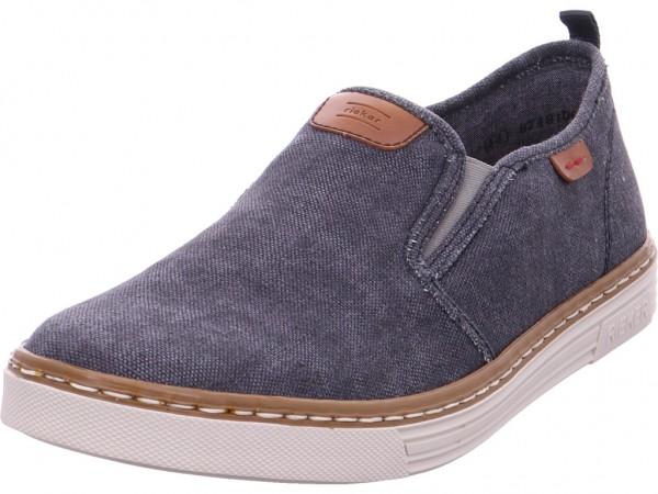 Rieker Schnürschuh Halbschuh sportlich Sneaker blau B4960-14
