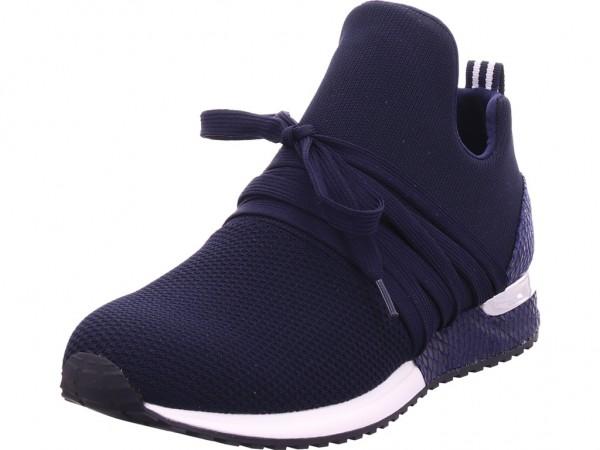 La Strada Damen Halbschuh Sneaker Sport Schnürer zum schnüren blau 1804297-4560