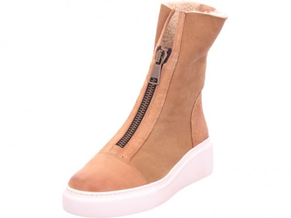 paul green Stiefelette Damen Winter Stiefel Boots Stiefelette warm zum schlüpfen braun 9653-017