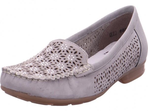Rieker Damen Slipper gelocht oder geflochten grau 40075-40
