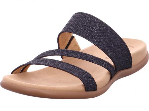 Gabor Damen Pantolette Sandalen Hausschuhe Clogs Slipper blau 83.703.66