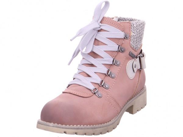 Jana Da.-Stiefel Damen Winter Stiefel Boots Stiefelette warm Schnürer rot 8-8-26219-21/521-521