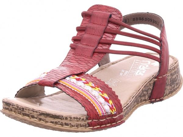 Rieker Damen Sandale Sandalette Sommerschuhe rot 61172-36
