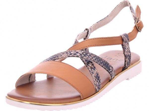 Jana Damen Sandale Sandalette Sommerschuhe braun 8-8-28115-24/390-390