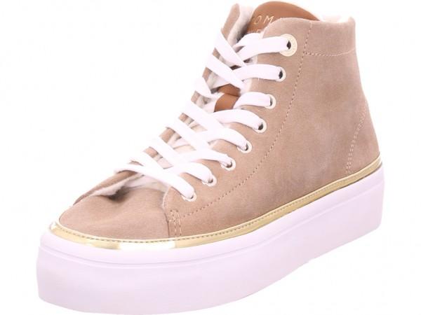 Tommy Hilfiger Damen Winter Stiefel Boots Stiefelette warm Schnürer beige FW0FW04535