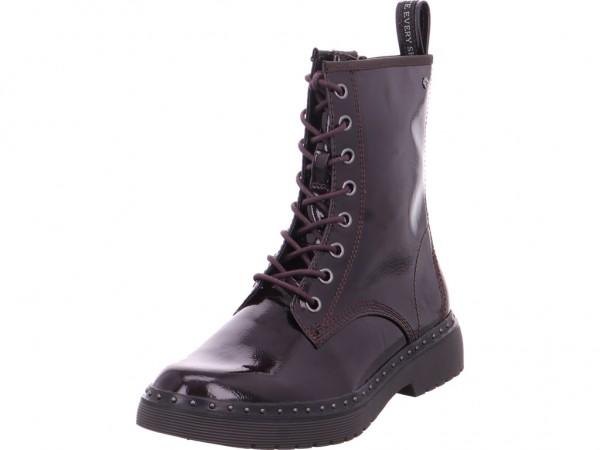 Tamaris Woms Boots Damen Winter Stiefel Boots Stiefelette warm Schnürer rot 1-1-26298-31/580-580