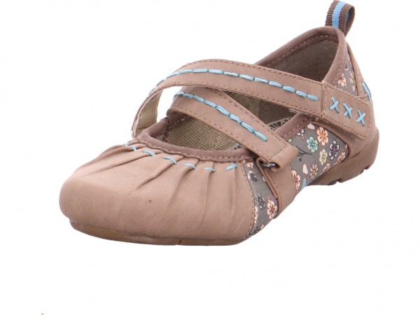 Pep Step Spangenschuhe - Sportboden Mädchen Ballerina braun 7562404-Taupe