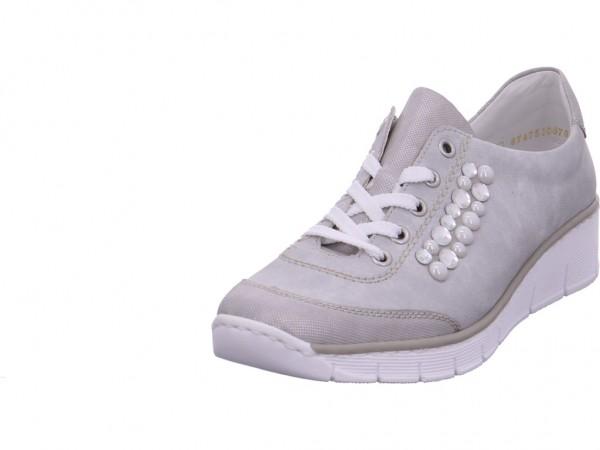 Rieker Damen Halbschuh Sneaker Sport Schnürer zum schnüren grau 53703-91