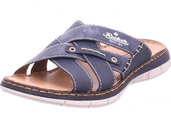 Rieker Herren Pantolette Sandalen Hausschuhe blau 25199-14