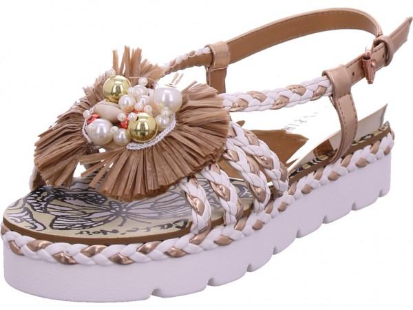cafenoir Damen Sandale Sandalette Sommerschuhe weiß IGC943 1996