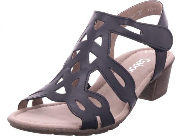 Gabor Damen Sandale Sandalette Sommerschuhe schwarz 24.561.27