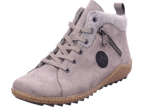 Rieker L752440 L75 Damen Stiefel Schnürer Boots Stiefelette zum schnüren grau L7524-40