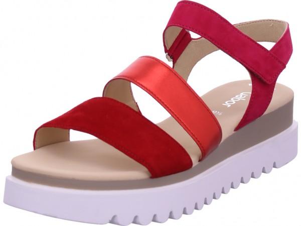 Gabor Damen Sandale Sandalette Sommerschuhe rot 44.610.14