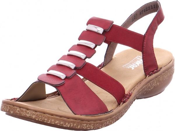 Rieker Damen Sandale Sandalette Sommerschuhe rot 62850-35