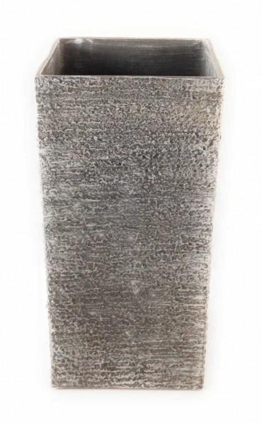 LESLI LIVING Pflanzgefäß quadratisch hoch Unisex - Erwachsene beige 018309