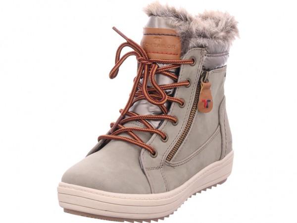 Tom Tailor Damen Winter Stiefel Boots Stiefelette warm Schnürer grün 7994702