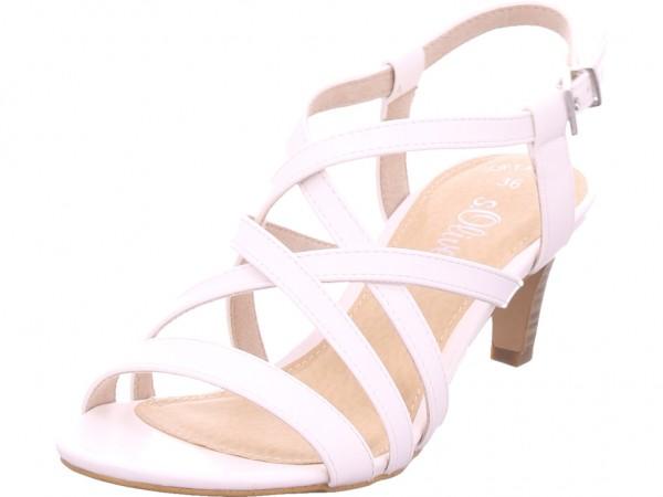 s.Oliver Woms Sandals Damen Sandale Sandalette Sommerschuhe weiß 5-5-28335-22/100-100