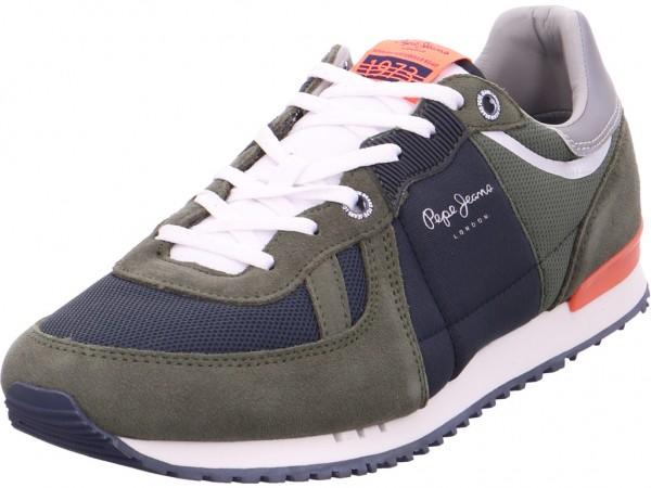 Pepe Jeans Schnürschuh Halbschuh sportlich Sneaker grün 30415 765
