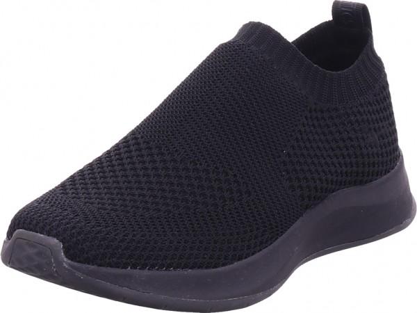 Tamaris Woms Slip-on Damen Sneaker Slipper Ballerina sportlich zum schlüpfen schwarz 1-1-24711-26/007