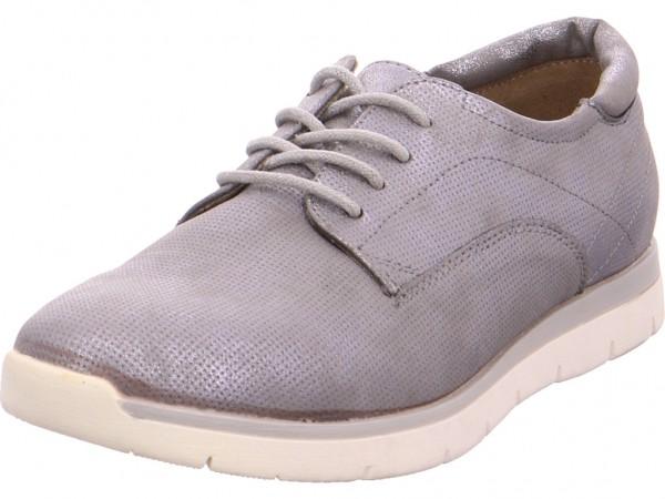 Quick-Schuh Beq.bis25mm-Abs/Keil Damen Halbschuh Sneaker Sport Schnürer zum schnüren grau 1000179/2