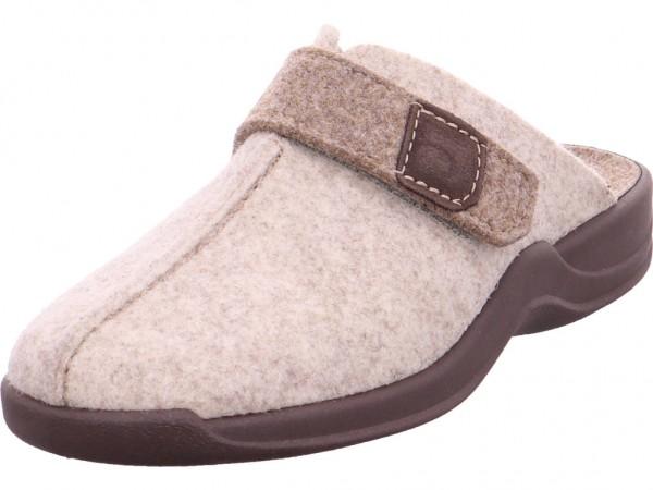 Rohde Damen Pantolette Sandalen Hausschuhe beige 2315-13