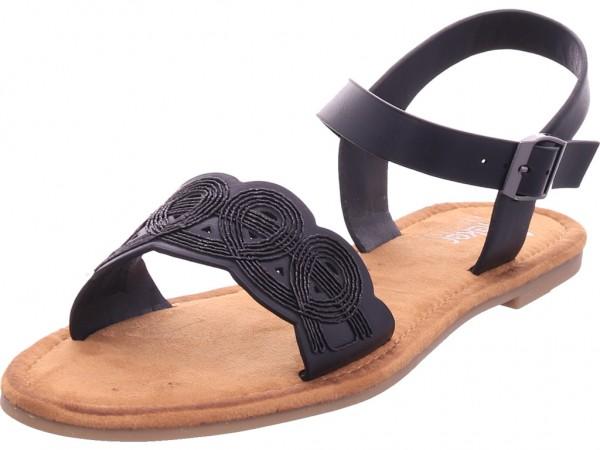 Rieker Damen Sandale Sandalette Sommerschuhe schwarz V7556-00