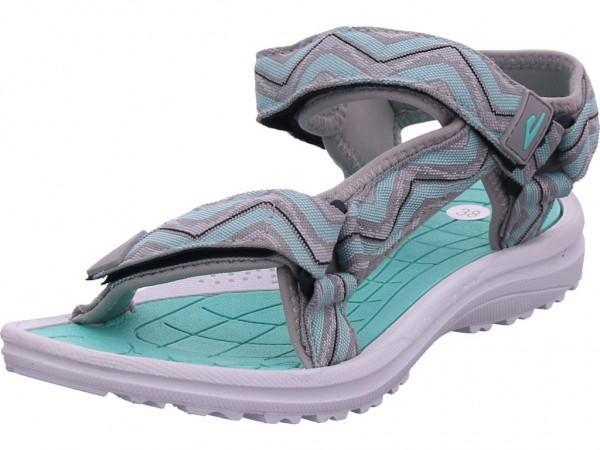 hengst Damen Sandale Sandalette Sommerschuhe grau S30501.852