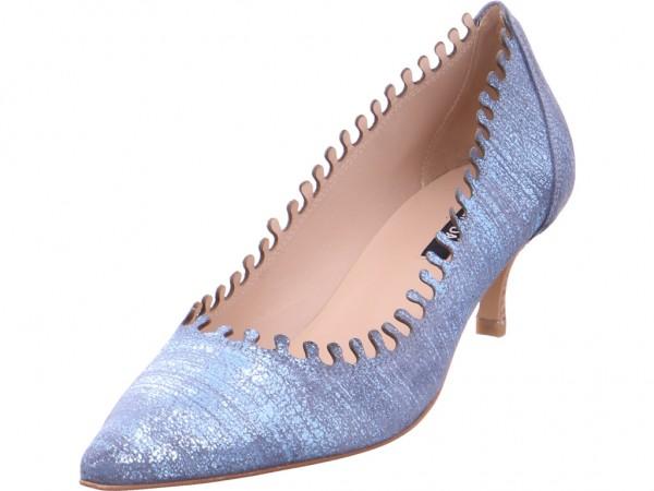 Zinda Kiss Jeans Damen Pumps elegant Abendschuhe Party Ball blau 3417 031