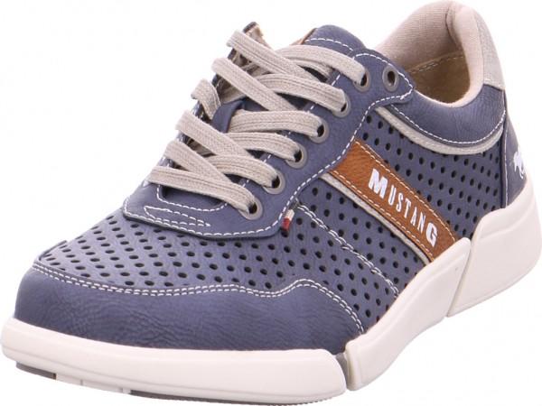 Mustang Schnürschuh Halbschuh sportlich Sneaker blau 4122301 800