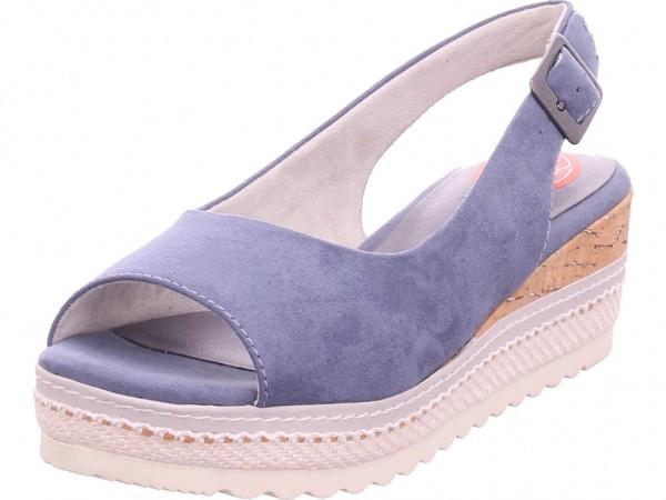 Jana Woms Sandals Damen Sandale Sandalette Sommerschuhe blau 8-8-29600-26/802
