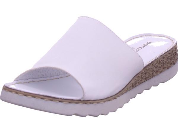 Aeros Marina Damen Pantolette Sandalen Hausschuhe weiß P189