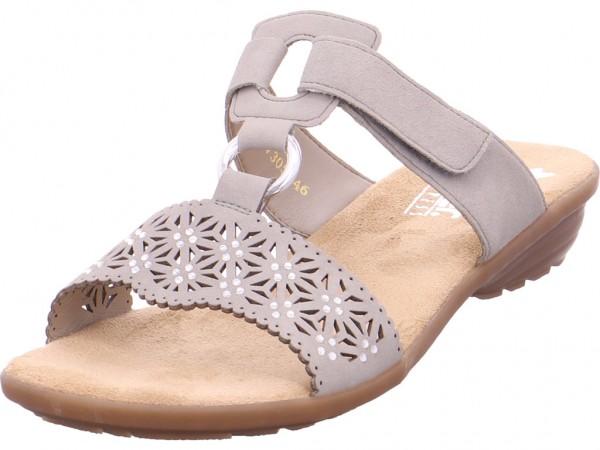 Rieker Damen Pantolette Sandalen Hausschuhe grau V3411-60
