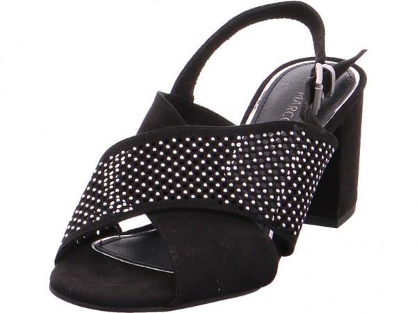 Marco Tozzi Da.-Sandalette Damen Sandale Sandalette Sommerschuhe schwarz 2-2-28311-28/001-001