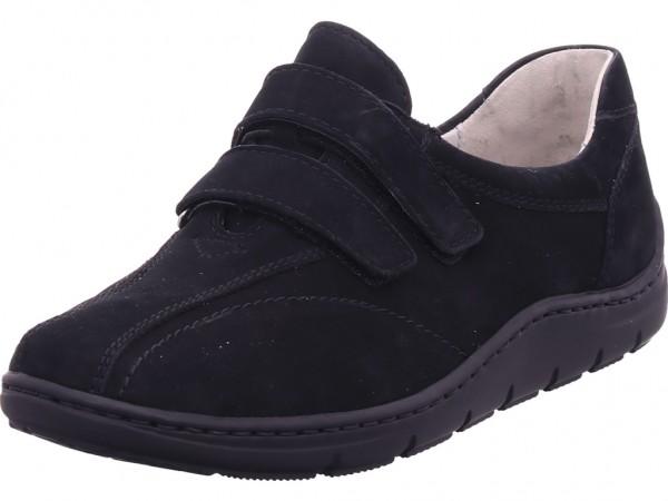 Waldläufer Hassi/H,schwarz Damen Sneaker Slipper Ballerina sportlich zum schlüpfen schwarz 399304
