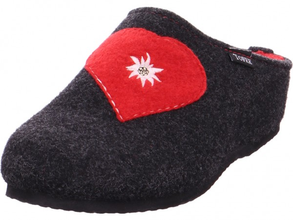Tofee Damen-Hausschuhe mit Kaltfutte Pantolette Sandalen Hausschuhe grau 18004749-901/555 Antracite