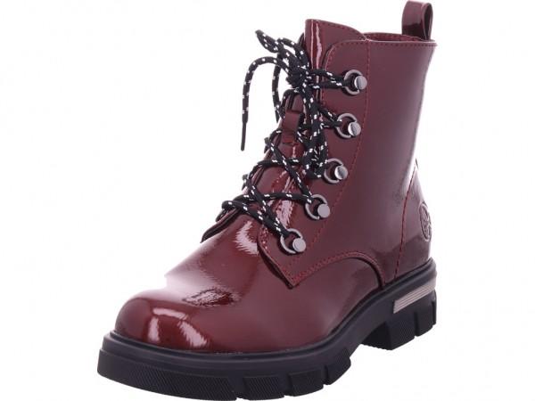 Rieker Damen Winter Stiefel Boots Stiefelette warm Schnürer rot 92610-35