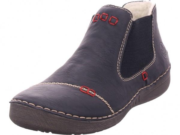 Rieker 5259000 525 Damen Winter Stiefel Boots Stiefelette warm zum schlüpfen schwarz 52590-00