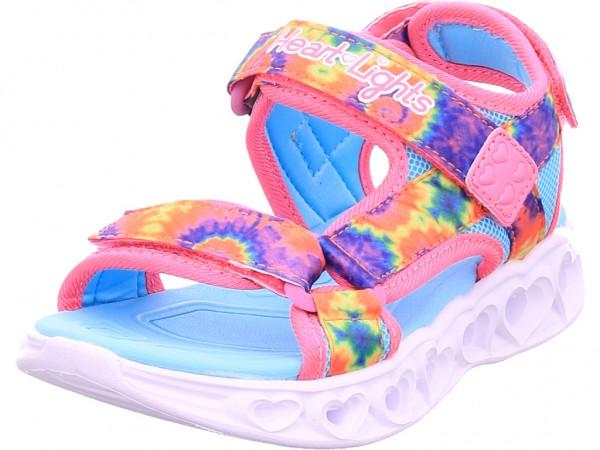 SKECHERS HEART LIGHTS SANDALS - COLOR G Mädchen Sandale Sandalette Sommerschuhe pink 302160L HPMT