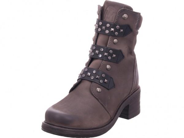 Maca Damen Stiefel Schnürer Boots Stiefelette zum schnüren grau 2560