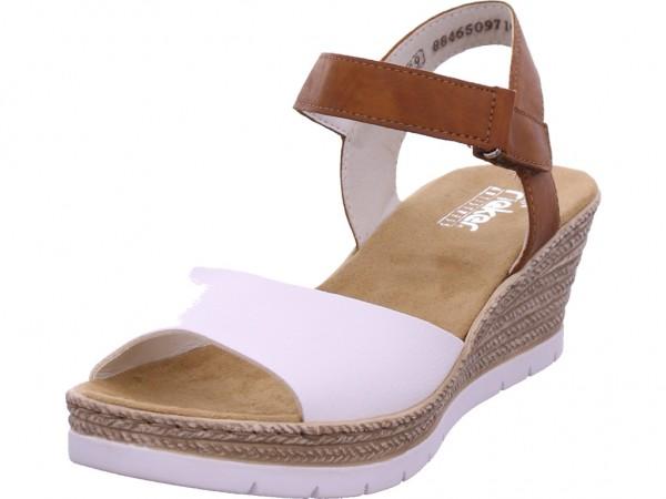 Rieker Damen Sandale Sandalette Sommerschuhe weiß 61953-80