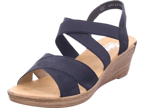 Rieker Damen Sandale Sandalette Sommerschuhe blau 62412-15