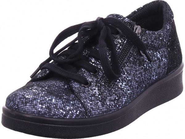 Jomos Damen Halbschuh Sneaker Sport Schnürer zum schnüren blau 809304