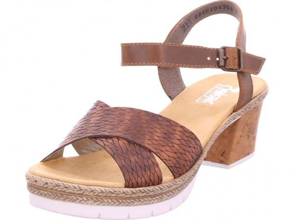 Rieker Damen Sandale Sandalette Sommerschuhe braun V2962 25