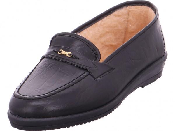 Quick-Schuh Beq.bis25mm-Abs Damen Sneaker Slipper Ballerina sportlich zum schlüpfen schwarz 1002986/0