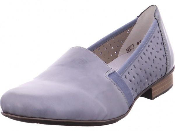 Rieker Damen Slipper gelocht oder geflochten blau 51995-12