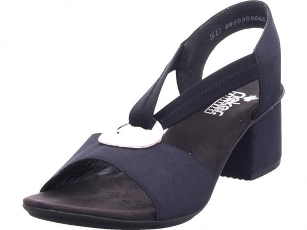 Rieker Damen Sandale Sandalette Sommerschuhe blau 64673-14